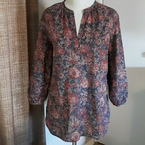 Chaps pullover blouse size M
